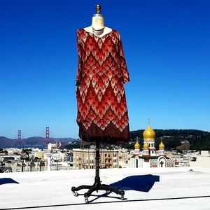 Dresses & Skirts - Gauzy Cotton Printed Shift Dress, Sz L